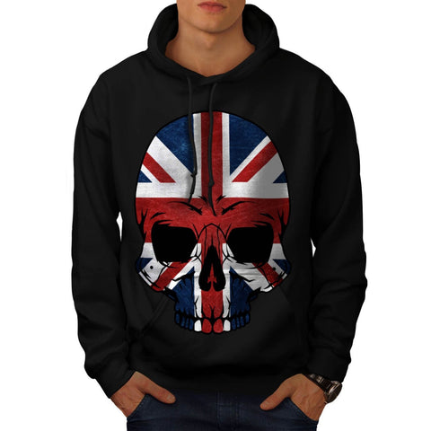 Anarchy UK Skull Flag Mens Hoodie
