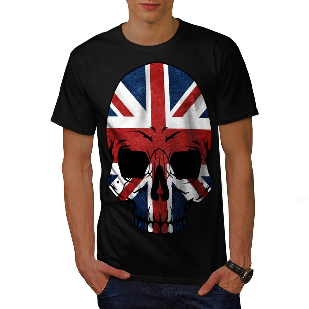 Anarchy UK Skull Flag Mens T-Shirt