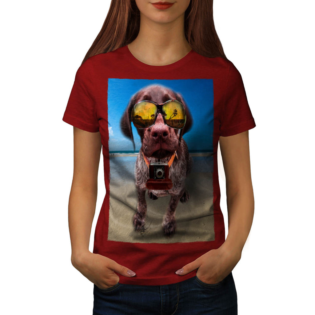 Dog Puppy Travel Life Womens T-Shirt