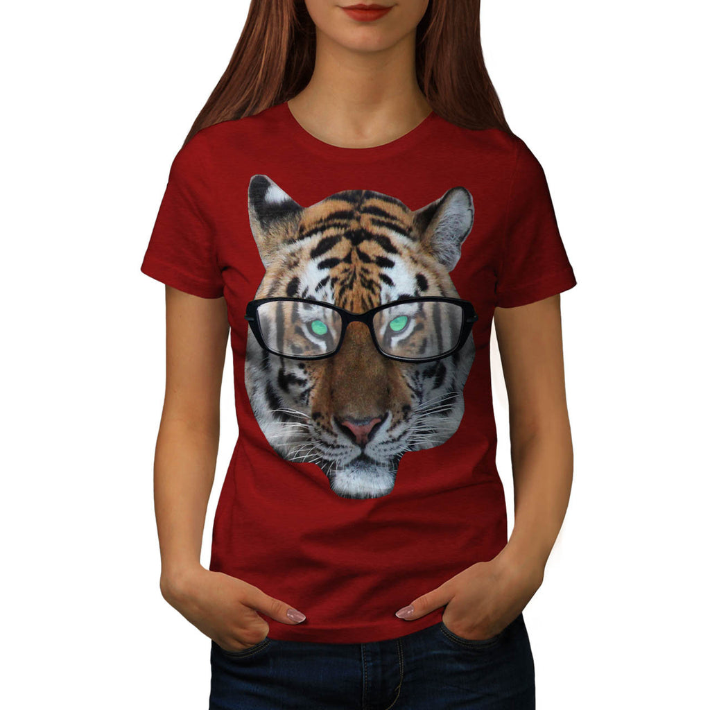 Swag Hipster Tiger Womens T-Shirt