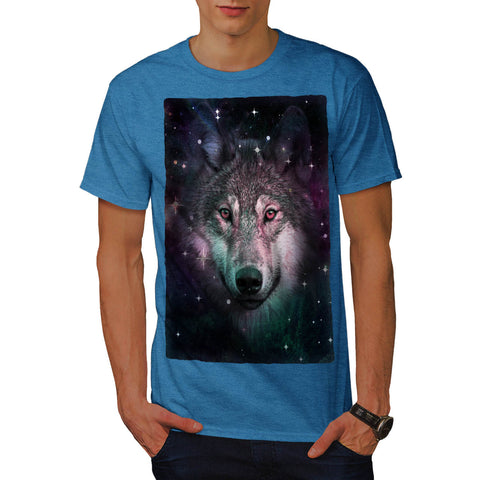 Space Wars Wolf Face Mens T-Shirt