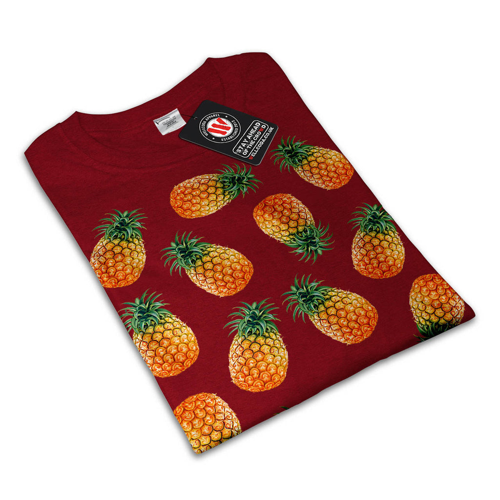 Pineapple Fruit Bowl Womens T-Shirt