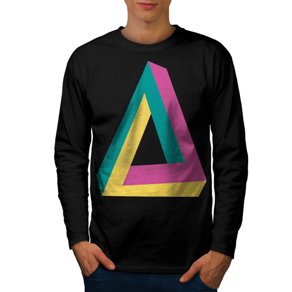 Triangle Drive Shape Mens Long Sleeve T-Shirt