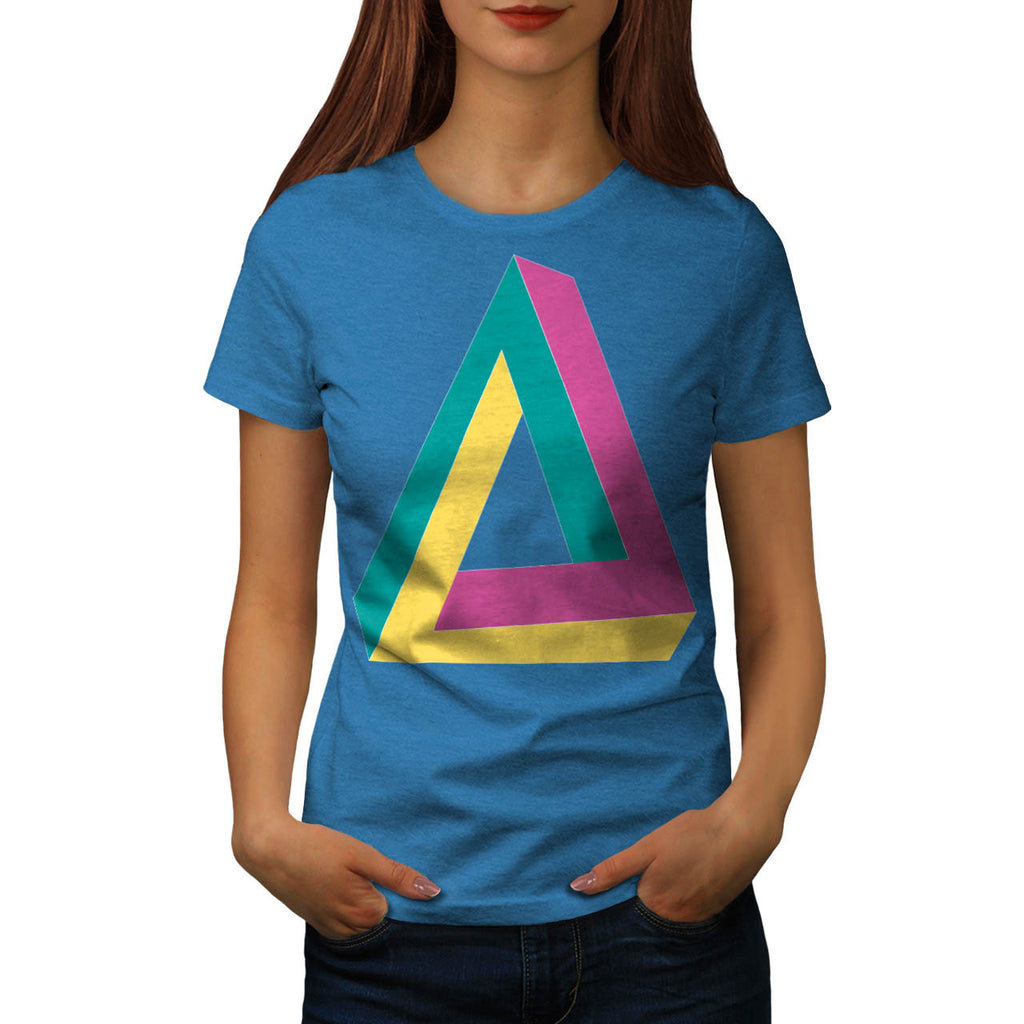 Triangle Drive Shape Womens T-Shirt