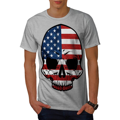 America Skull Flag Mens T-Shirt