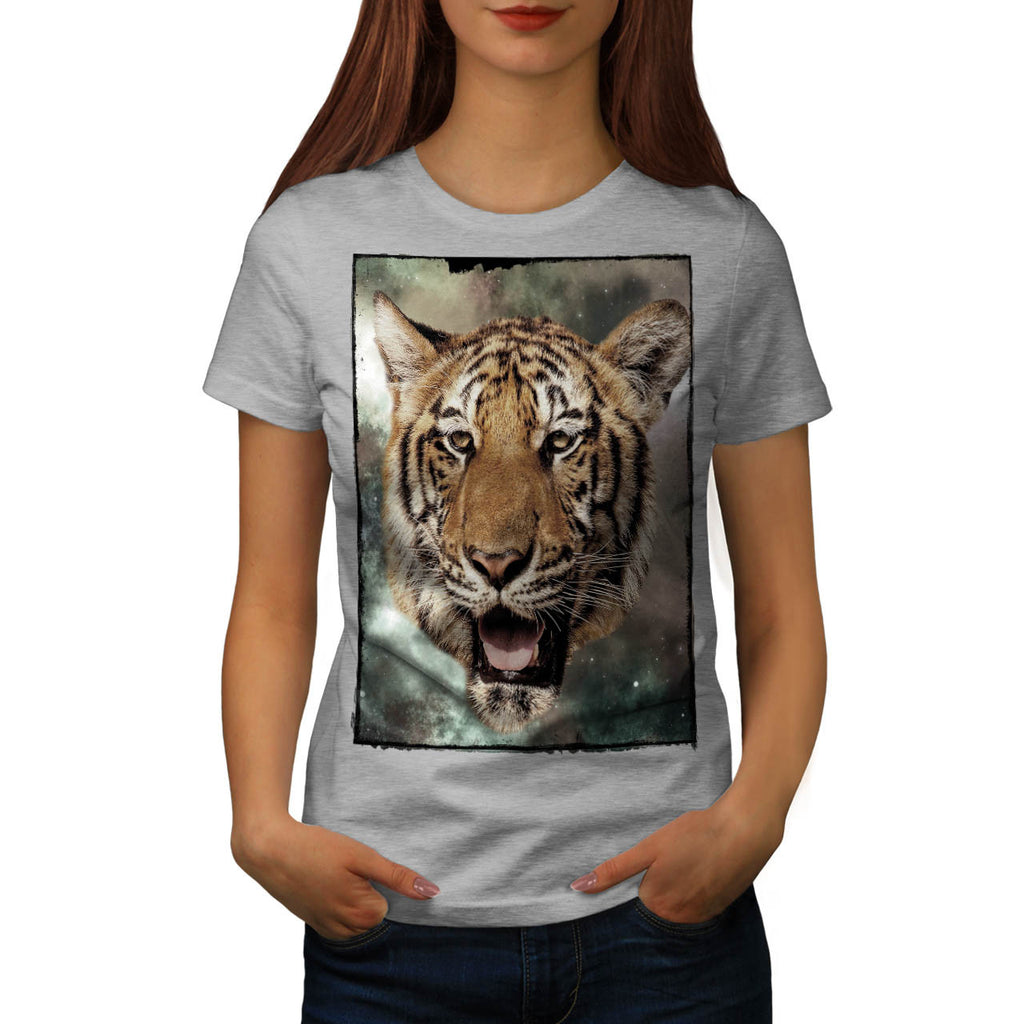 Big Cat Tiger Face Womens T-Shirt