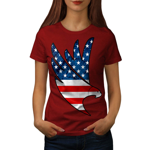 Freedom Eagle USA Womens T-Shirt