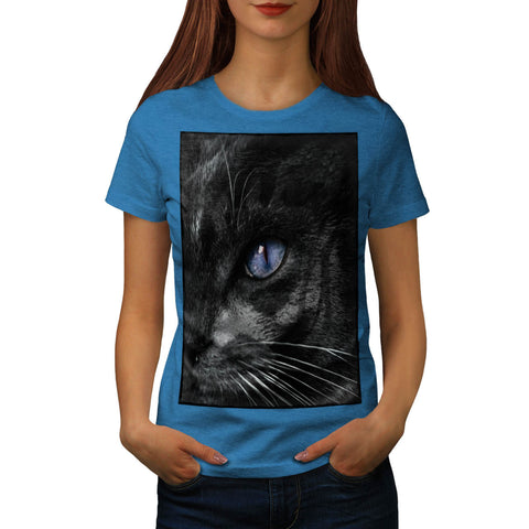 Cat Kitten Eye Stare Womens T-Shirt