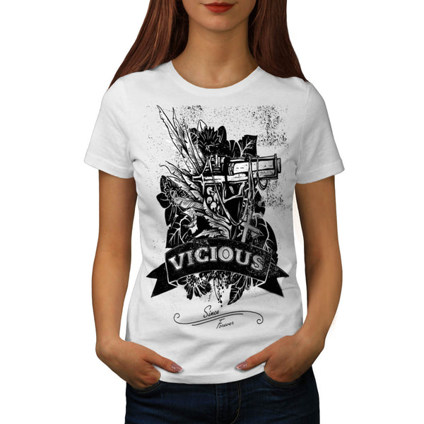 Vicious Fear Gun Shot Womens T-Shirt