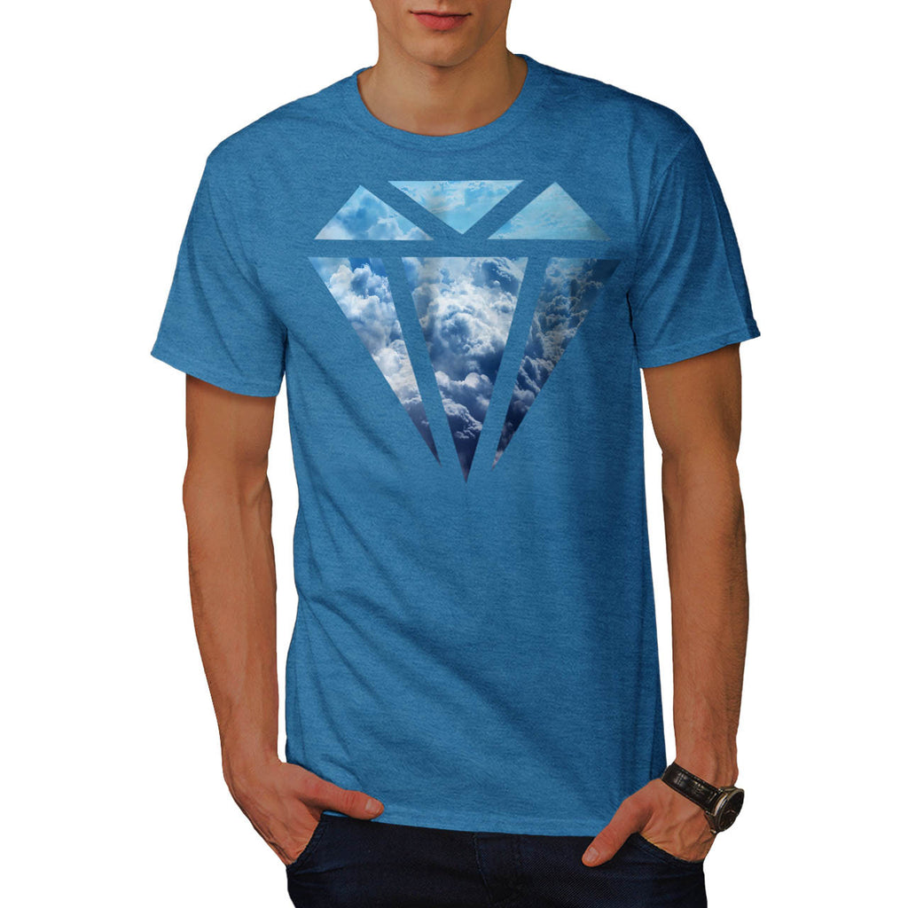 Blue Diamond Sky Cloud Mens T-Shirt