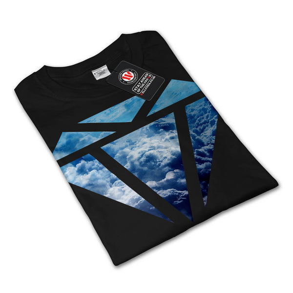 Blue Diamond Sky Cloud Mens Long Sleeve T-Shirt