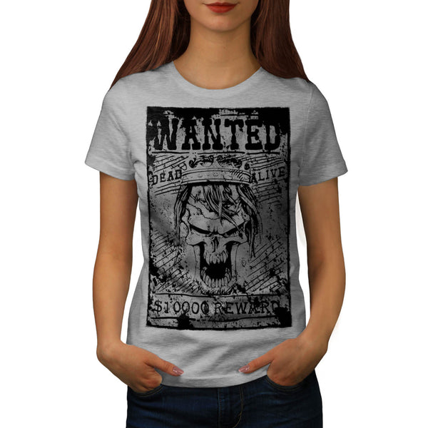 Skull Pirate Head Art Womens T-Shirt