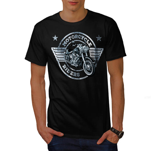 Motor Cycle Rider Mens T-Shirt