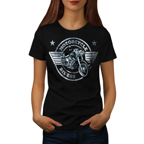 Motor Cycle Rider Womens T-Shirt