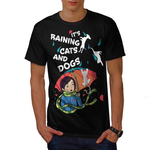 Raining Cats And Dogs Mens T-Shirt