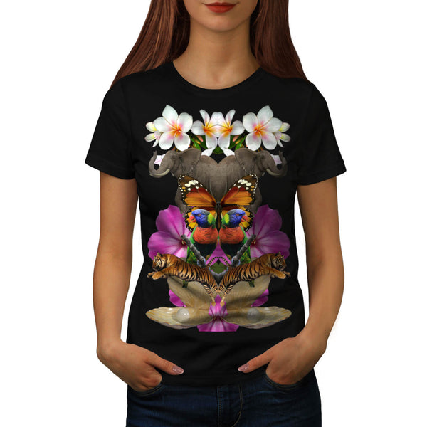 Wild Animal Paradise Womens T-Shirt
