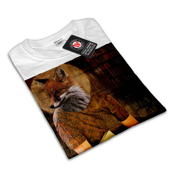 Vintage Fox Lady Face Womens T-Shirt
