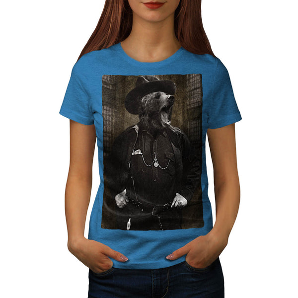 Bear Sheriff Wild Fun Womens T-Shirt