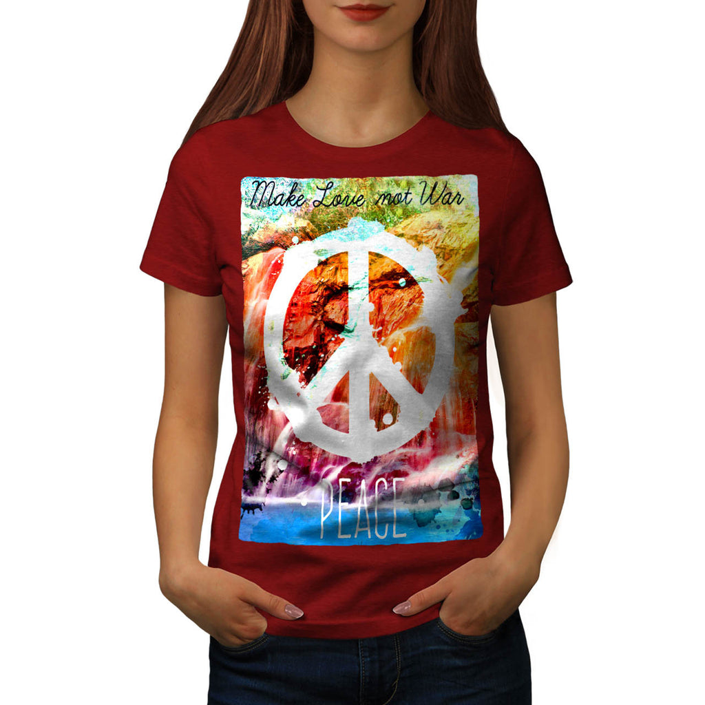 Make Love Not War Womens T-Shirt