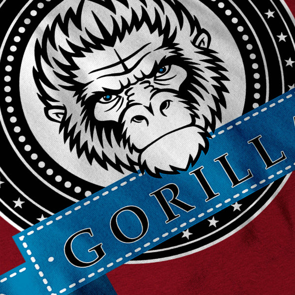 Gorilla Monkey Face Womens T-Shirt