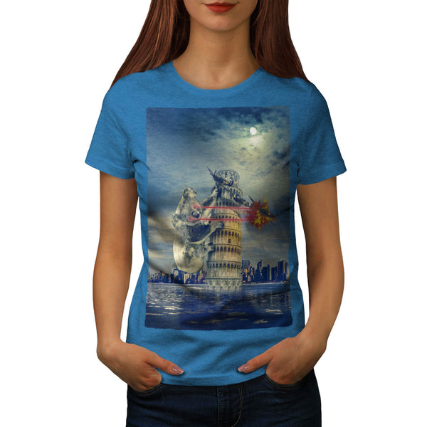 Pisa Tower Koala Bear Womens T-Shirt