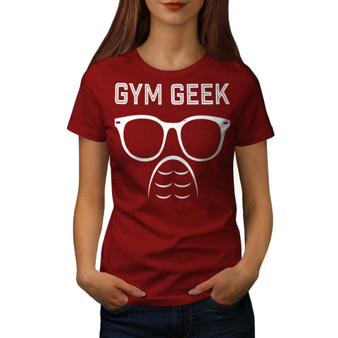 Gym Geek Six Pack Fun Womens T-Shirt