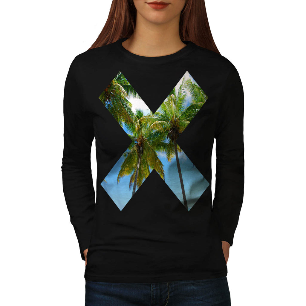 X Cross Paradise Vote Womens Long Sleeve T-Shirt