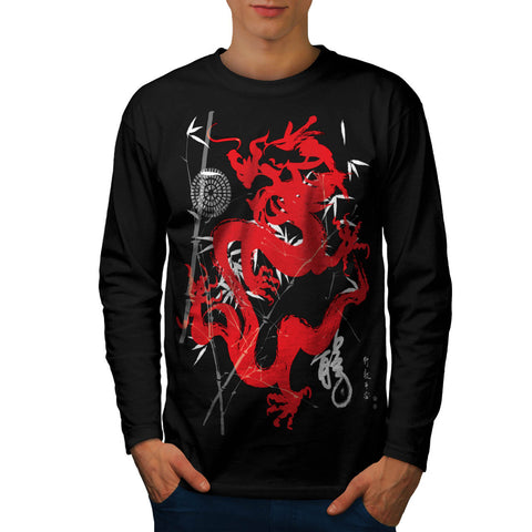 Dragon Japan Fantasy Mens Long Sleeve T-Shirt