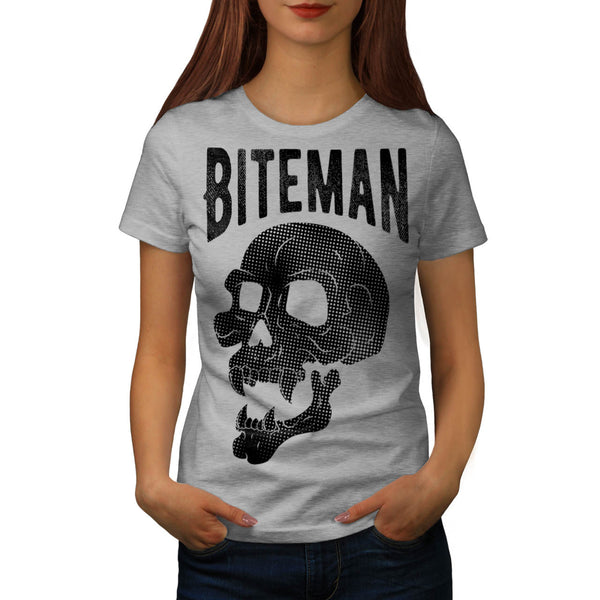 Skull Vampire Head Womens T-Shirt