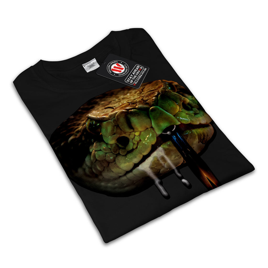 Snake Venom Bite Face Womens T-Shirt