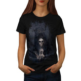 Ghost Lady Haunting Womens T-Shirt