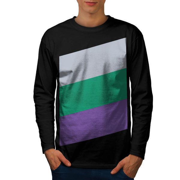 Three Tier Colours Mens Long Sleeve T-Shirt