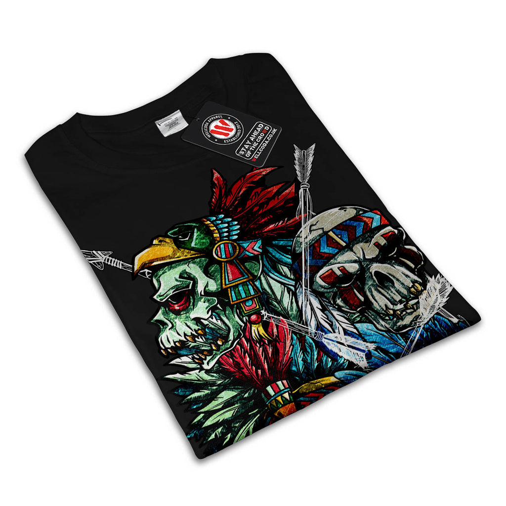 Skull Indian Tattoo Mens T-Shirt