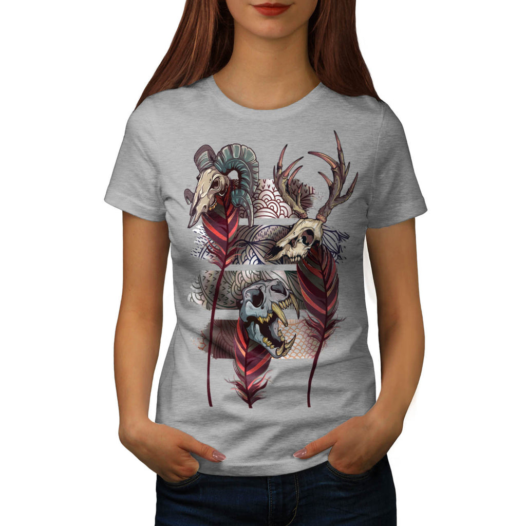 Skull Indian Beast Womens T-Shirt