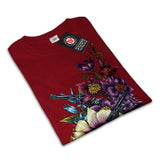 Flower Pistol Guns Womens T-Shirt