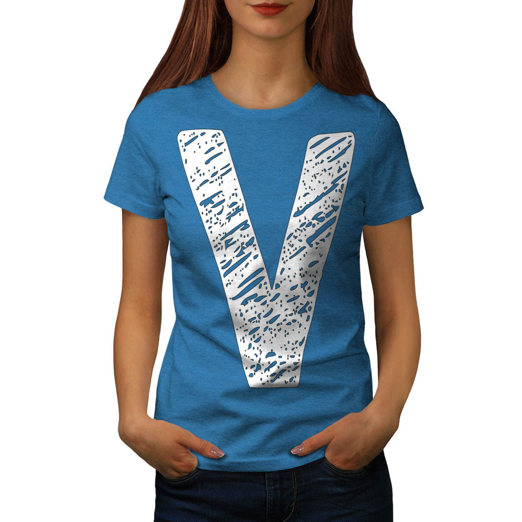 V Epic Brand Print Womens T-Shirt