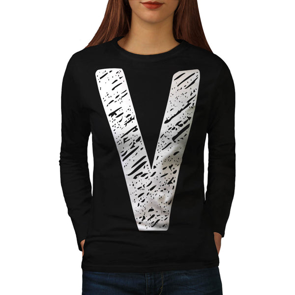 V Epic Brand Print Womens Long Sleeve T-Shirt