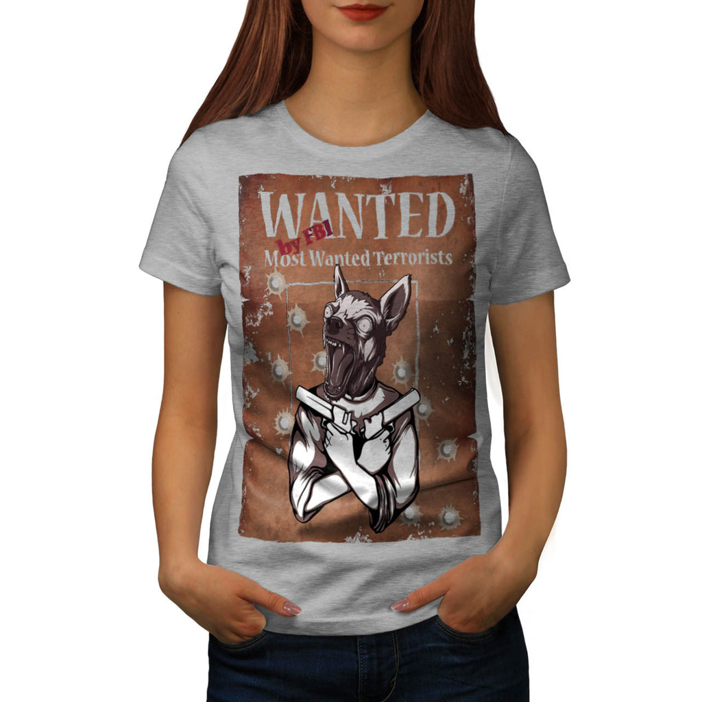 Wanted By FBI Animal Womens T-Shirt