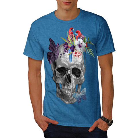 Skull Rose Flower Soul Mens T-Shirt