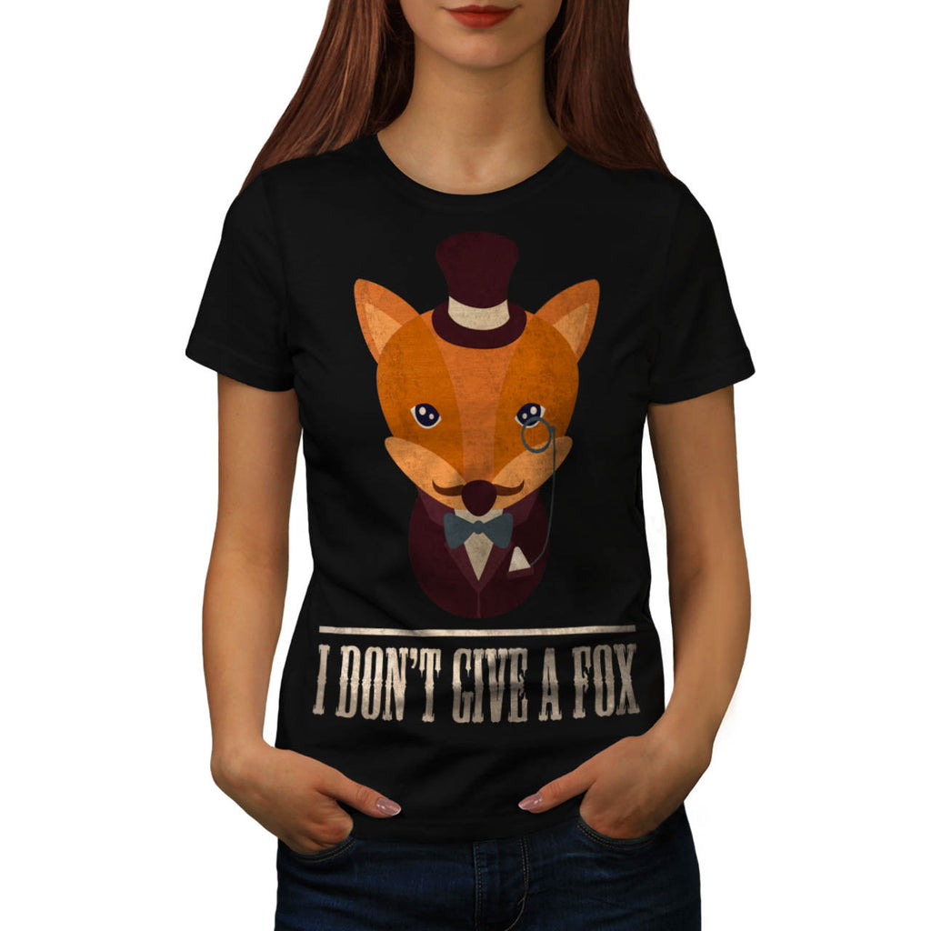 Dont Give A Fox Comic Womens T-Shirt