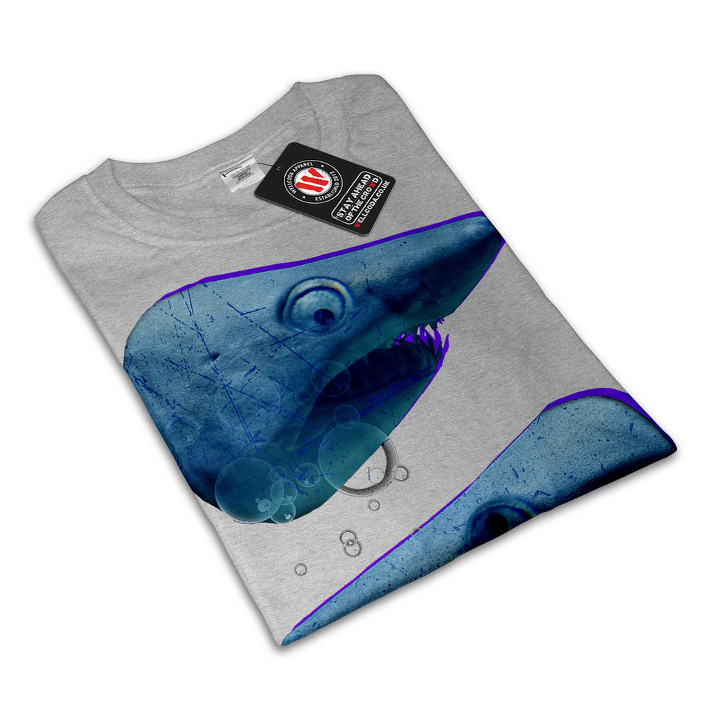 Deep Blue Sea Shark Womens T-Shirt
