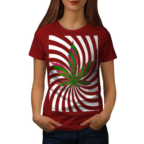 Optical Illusion Weed Womens T-Shirt