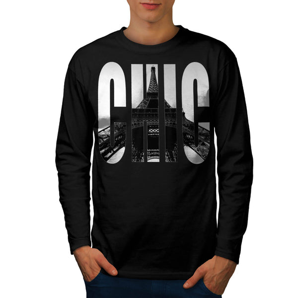 Eiffel Tower Chic Swag Mens Long Sleeve T-Shirt