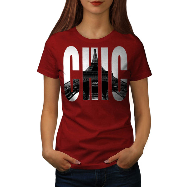 Eiffel Tower Chic Swag Womens T-Shirt