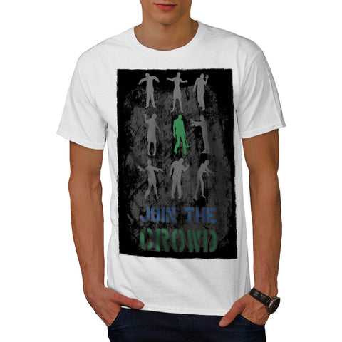 Join The Crowd Zombie Mens T-Shirt