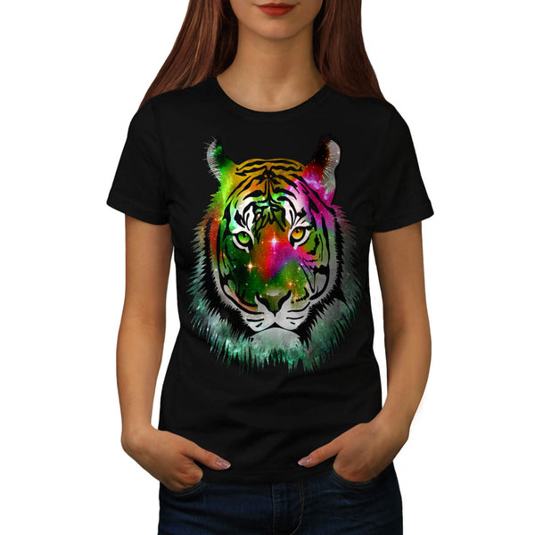 Colorful Tiger Animal Womens T-Shirt