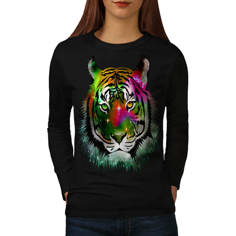 Colorful Tiger Animal Womens Long Sleeve T-Shirt