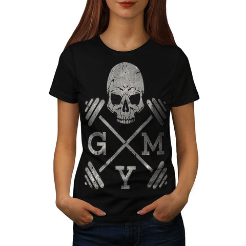 Gym Skeleton Poster Womens T-Shirt