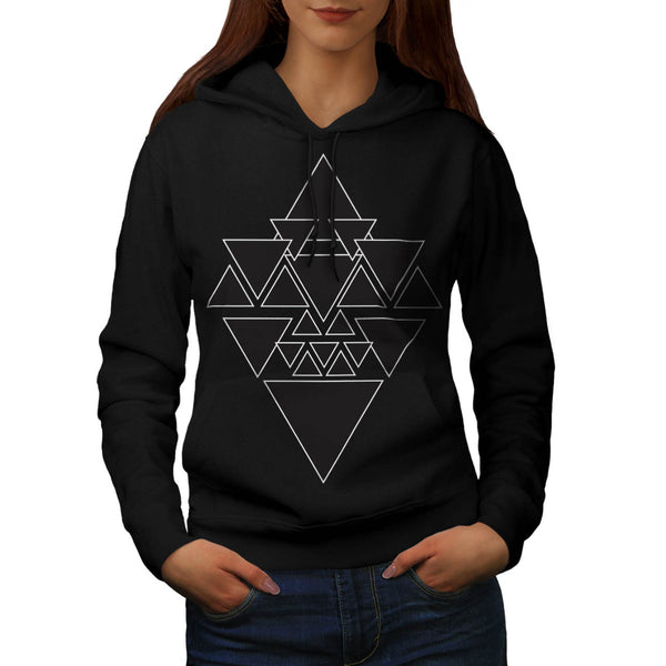 Triangle Star Night Womens Hoodie