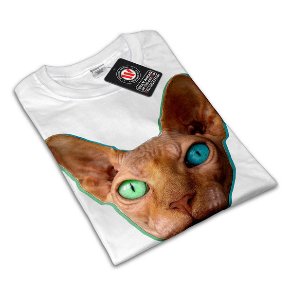 Crazy Eyed Kitten Womens T-Shirt